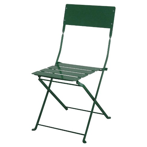 Outdoor Metal Folding Chair Green - Threshold™ - image 1 of 1