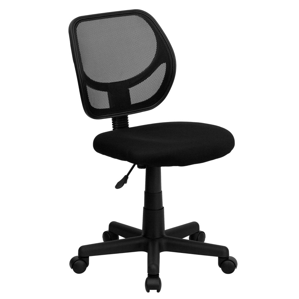 Image of Low Back Black Mesh Swivel Task Chair - Belnick