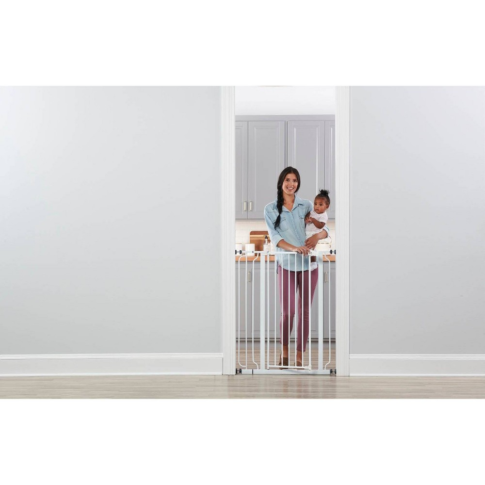 Image of Regalo Extra Tall Easy Step Metal Walk -Through Baby Gate - White