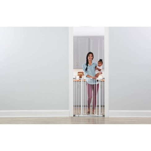 Regalo Extra Tall Easy Step Metal Walk -Through Baby Gate - White - image 1 of 1