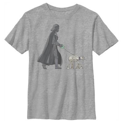 Boy's Star Wars Darth Vader AT-AT Walking the Dog T-Shirt