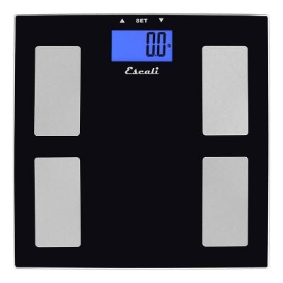 Goal Tracking Body Composition Bath Scale Black- Escali
