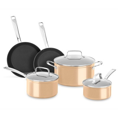 KitchenAid 8 Piece Hard Anodized Nonstick Cookware Set - KC3H1S08