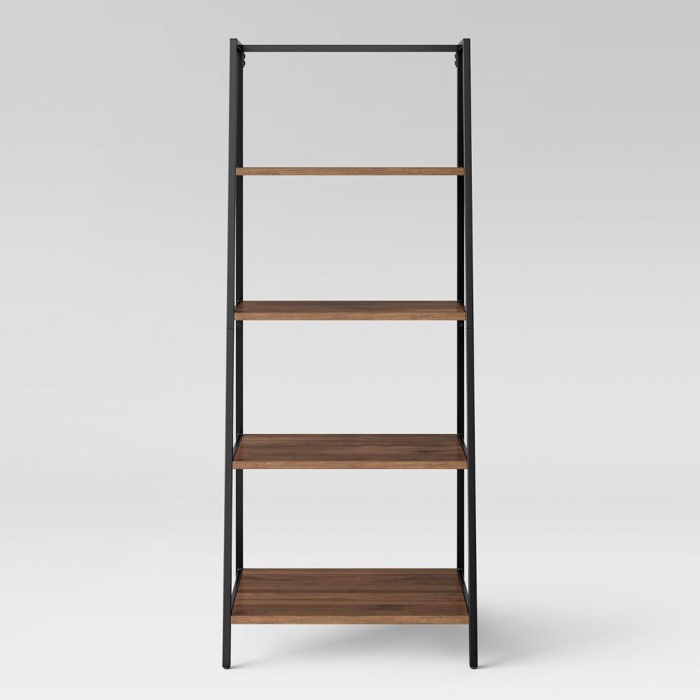 60 Loring 4 Shelf Trestle Bookcase Walnut (Brown) - Project 62
