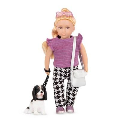 """Lori 6"""" Mini Doll & Dog Heather & Nugget"""