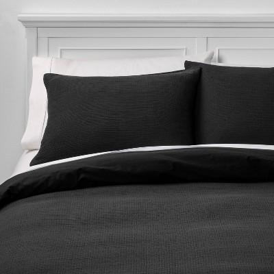 King Micro Texture Duvet Cover & Sham Set Black - Project 62™ + Nate Berkus™