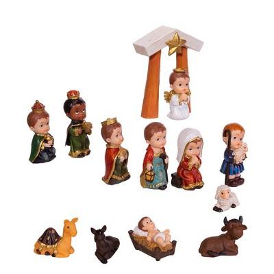 "Kurt Adler 1.6-4.5"" Children's Nativity, 13-Piece Set"