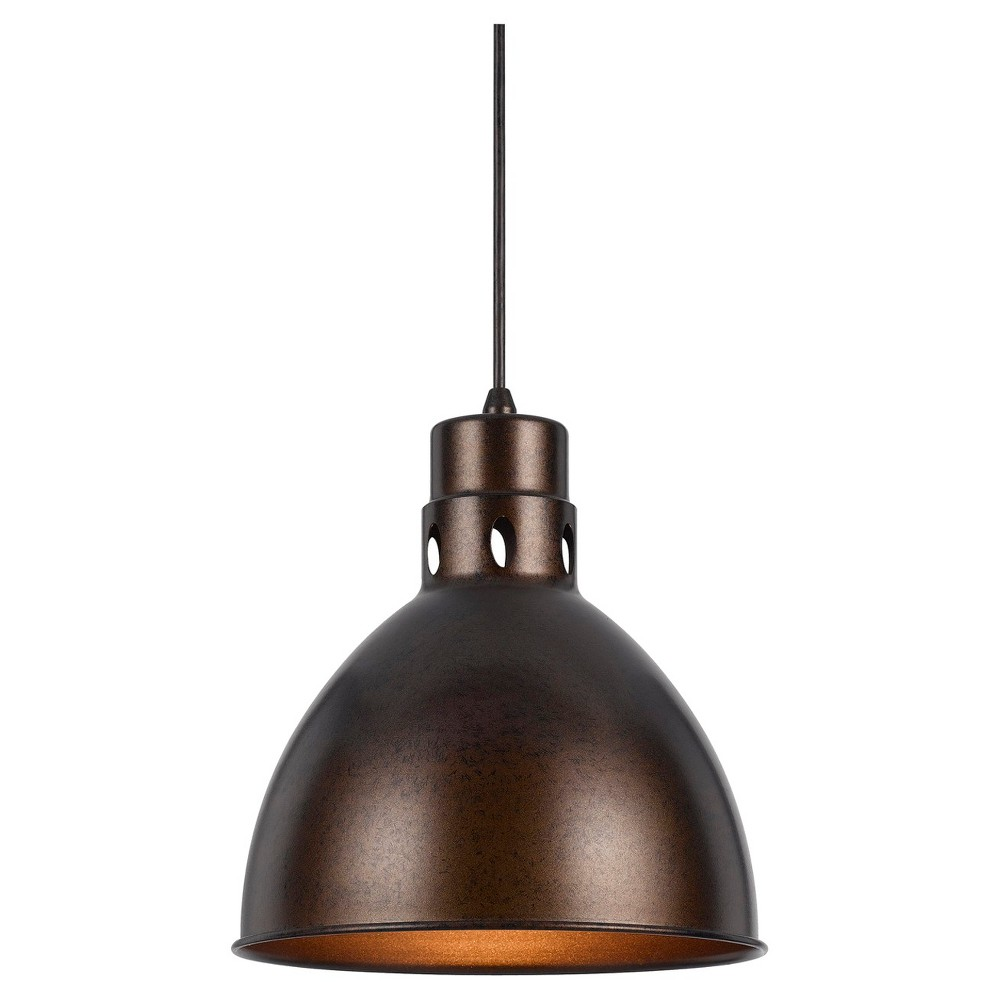 Cal Lighting Webster Rust finish Metal Pendant Cal Lighting Webster metal pendant in Rust finish with matching canopy. Cal Lighting makes this item in 3 finishes. (Sold separately) Gender: unisex.