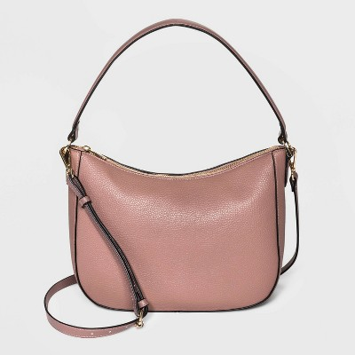 Zip Closure Hobo Handbag - A New Day™ Mauve