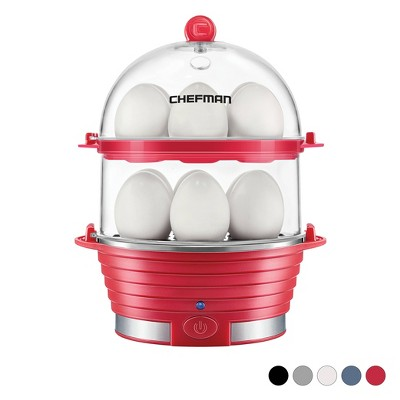 Chefman Double Decker Electric Egg Cooker - Red
