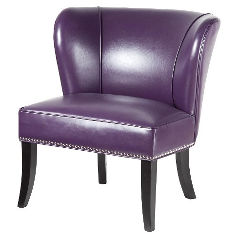 Hilton Concave Back Armless Chair - Plum - image 1 of 4
