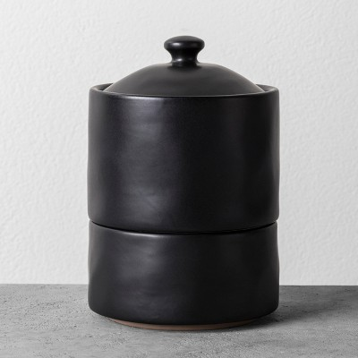 Bath Canister Black - Hearth & Hand™ with Magnolia