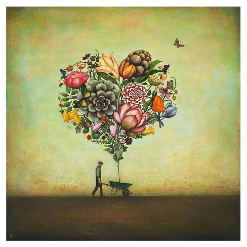 Big Heart Botany by Duy Huynh Unframed Wall Art Print - image 1 of 2
