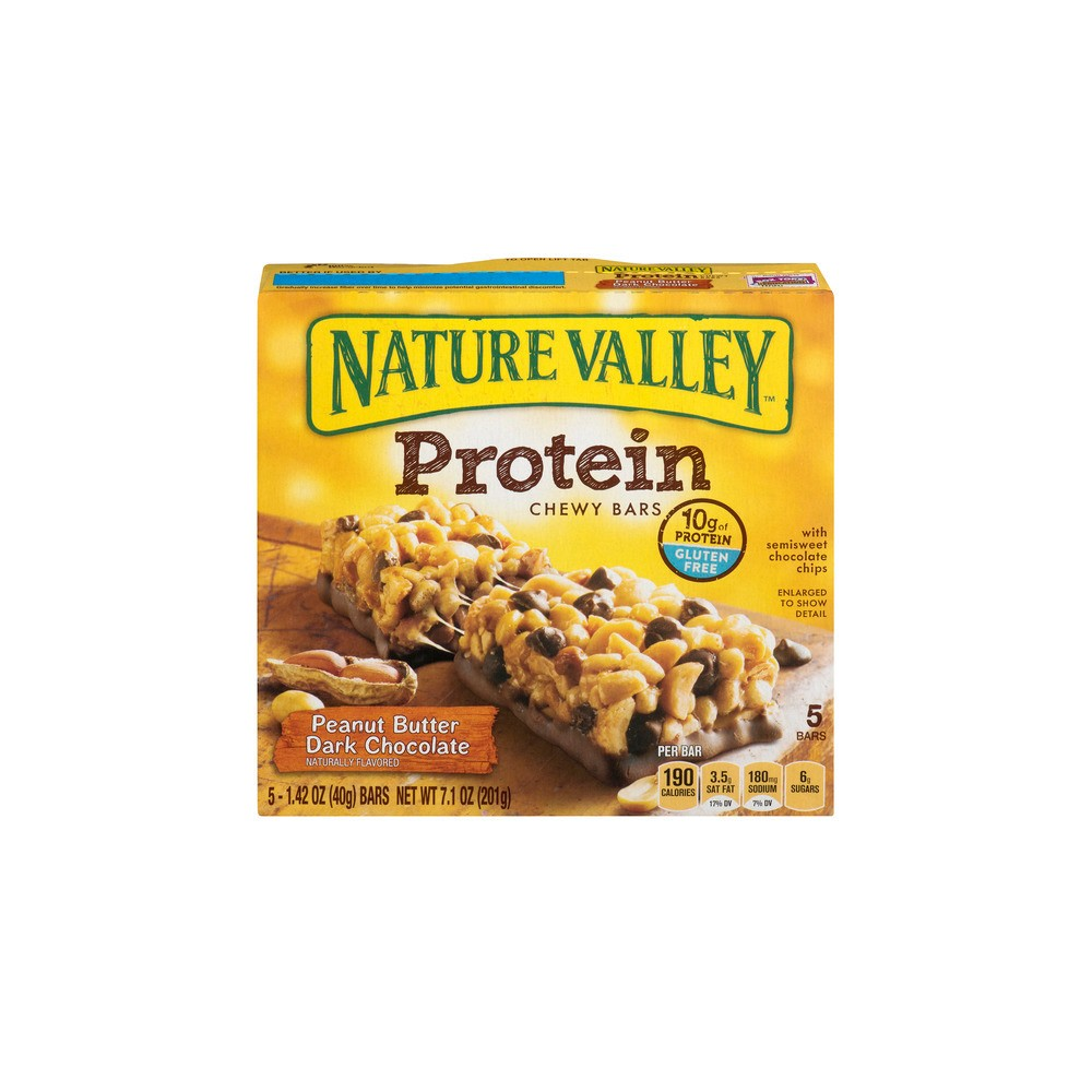 Nature Valley Peanut Butter Dark Chocolate Protein Chewy Bars - 5ct