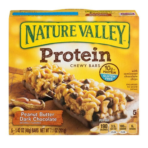 Nature Valley Peanut Butter Dark Chocolate Protein Chewy Bars - 5ct - image 1 of 3