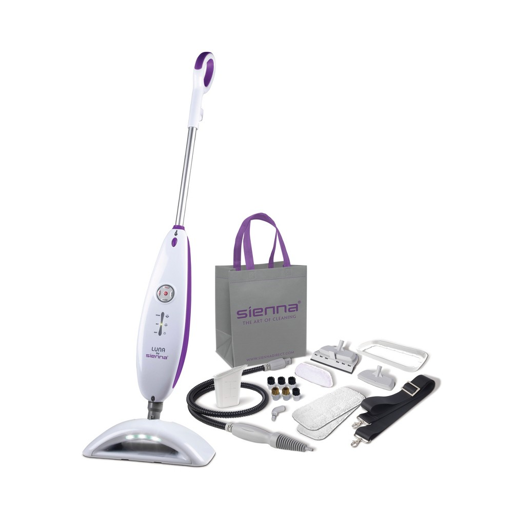 Image of Sienna Luna Plus Micro Pulse Steam Mop with 12 Attachments - SSM-3016, Purple White