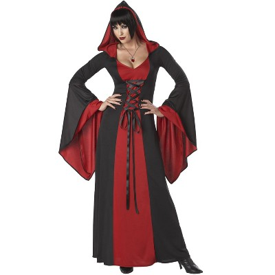 California Costumes Deluxe Hooded Robe Adult Costume (Red)