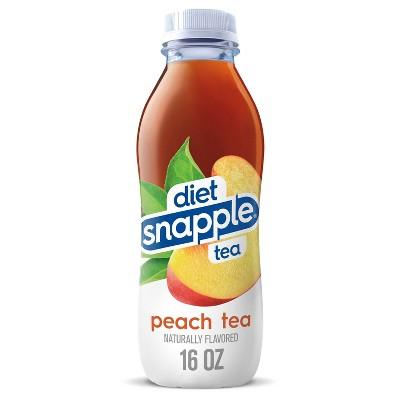Diet Snapple Peach Tea - 16 fl oz Bottle