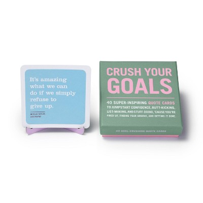40ct Crush Your Goals Inner Truth Deck Inspiring Quote Cards & Affirmation Cards Deck