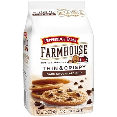 Pepperidge Farm Farmhouse Thin & Crispy Dark Chocolate Chip Cookies - 6.9oz
