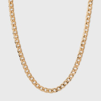 Thin Curb Chain Necklace - A New Day™