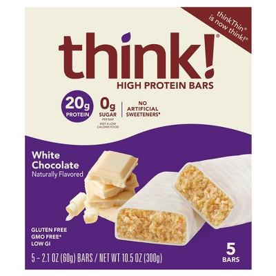 think! High Protein White Chocolate Bars - 5ct