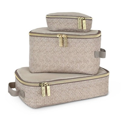 Itzy Ritzy Pack Like a Boss Packing Cubes - Taupe