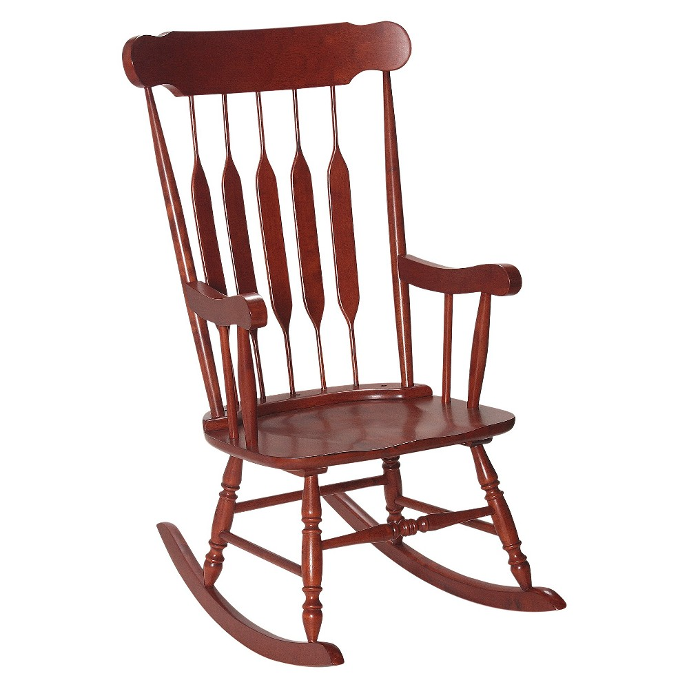 Image of Adult Wooden Rocking Chair - Cherry, Adult Unisex, Red
