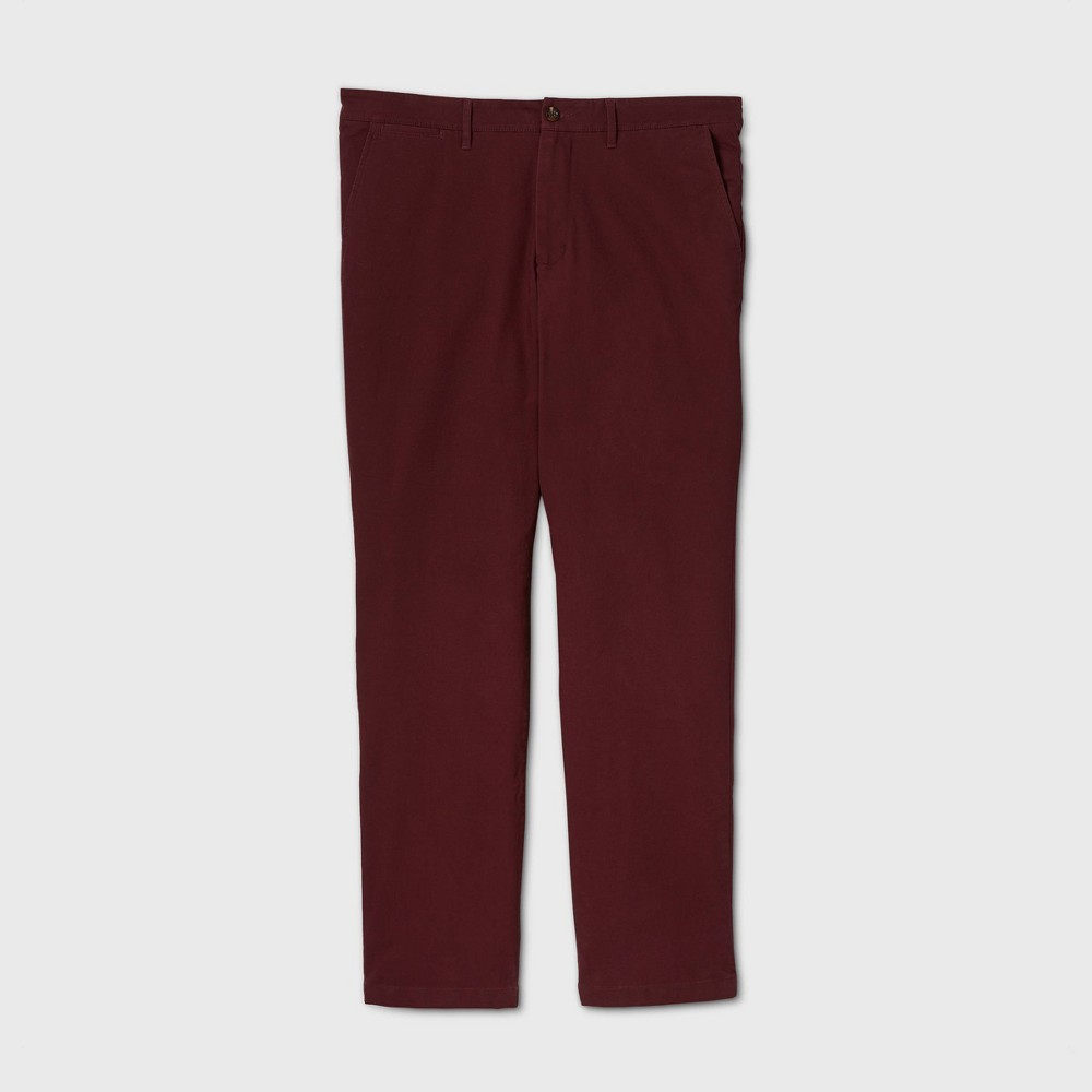 Men 39 S Tall Straight Fit Hennepin Chino Pants Goodfellow 38 Co 8482 Red Wine 42x36