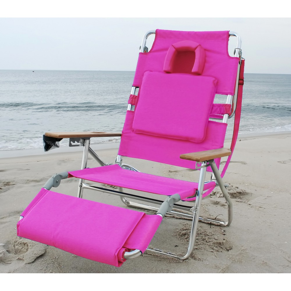 Image of Ostrich Deluxe Face Down 3 In 1 Beach Chair Pink - Deltess