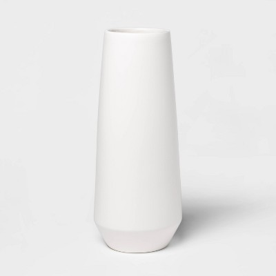 "16.2"" x 6.5"" Matte Ceramic Bottle Vase White - Project 62™"