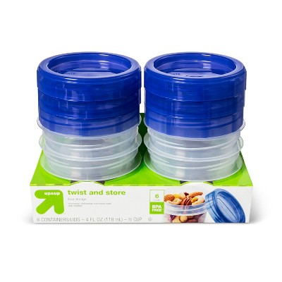 Twist And Store Round Food Storage Container - 6ct/4 fl oz - Up&Up™