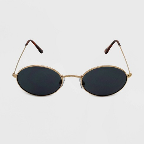 Women's Oval Sunglasses - Wild Fable™ Gold - image 1 of 2