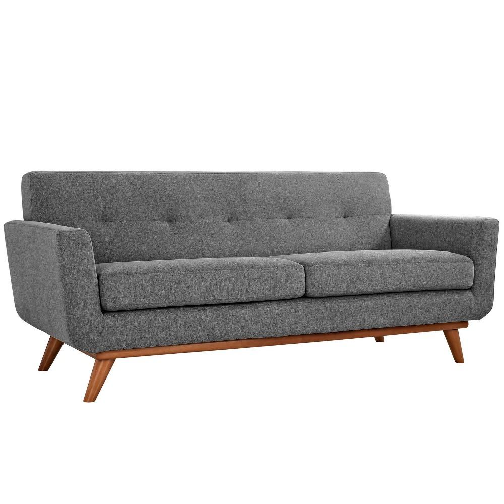 Engage Upholstered Loveseat Expectation Gray - Modway