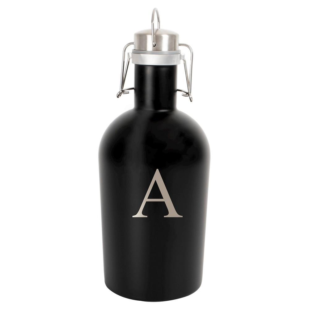 Monogram 64 oz. Stainless Steel Groomsmen Gift Growler Drinkware - A, Black - A