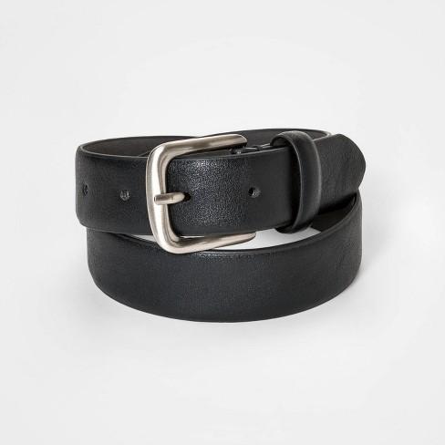 Boys' Basic Belt - Cat & Jack™ Black - image 1 of 1