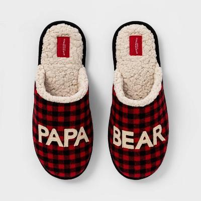 Men's Family Sleep Papa Bear Slide Slippers - Wondershop™ Red XL