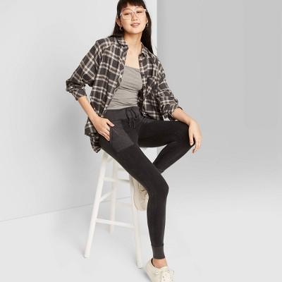 Women's High-Waisted Slim Jogger Pants - Wild Fable™ Dark Gray L