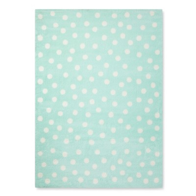 Mint Polka Dots Rug (5'x7')- Pillowfort™
