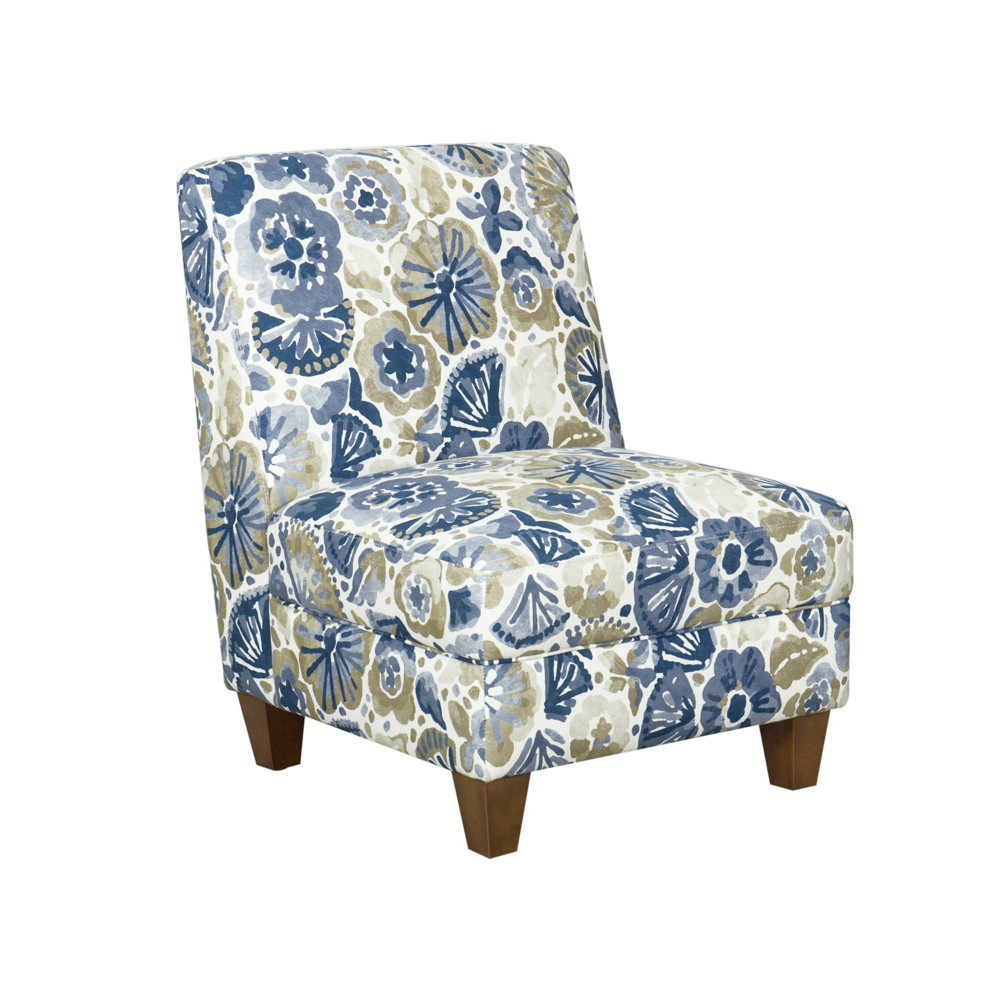 Slipper Chair Floral Blue/Tan - HomePop was $319.99 now $239.99 (25.0% off)