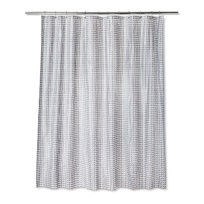 Geometric Shower Curtain Sleek Gray - Room Essentials™