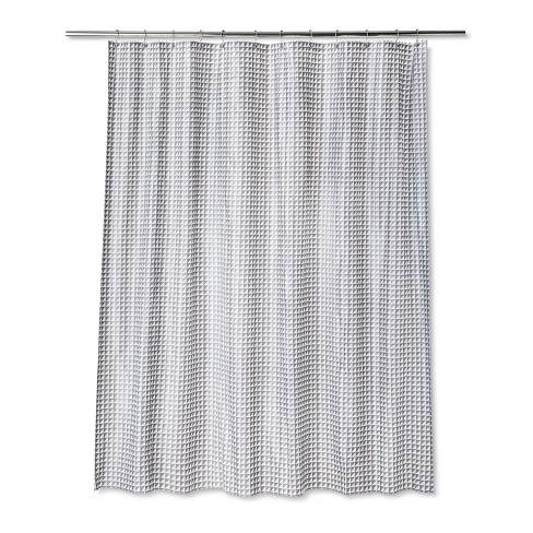 Geometric Shower Curtain Sleek Gray