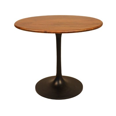 "36"" Somerset Wood Top Round Dining Table - Carolina Chair & Table"