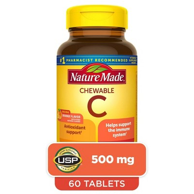 Nature Made Chewable Vitamin C 500 mg Tablets - 60ct