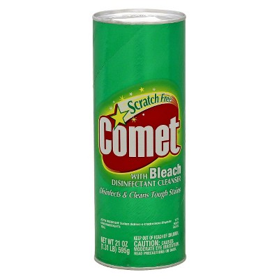 Comet with Bleach Disinfectant Cleanser Scratch Free - 21oz