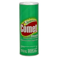 Comet With Bleach Disinfectant Cleanser Scratch Free 21 Oz