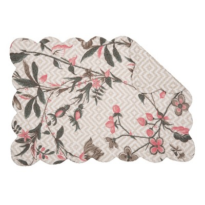 C&F Home Blair Garden Cotton Quilted Rectangular Reversible Placemat Set of 6