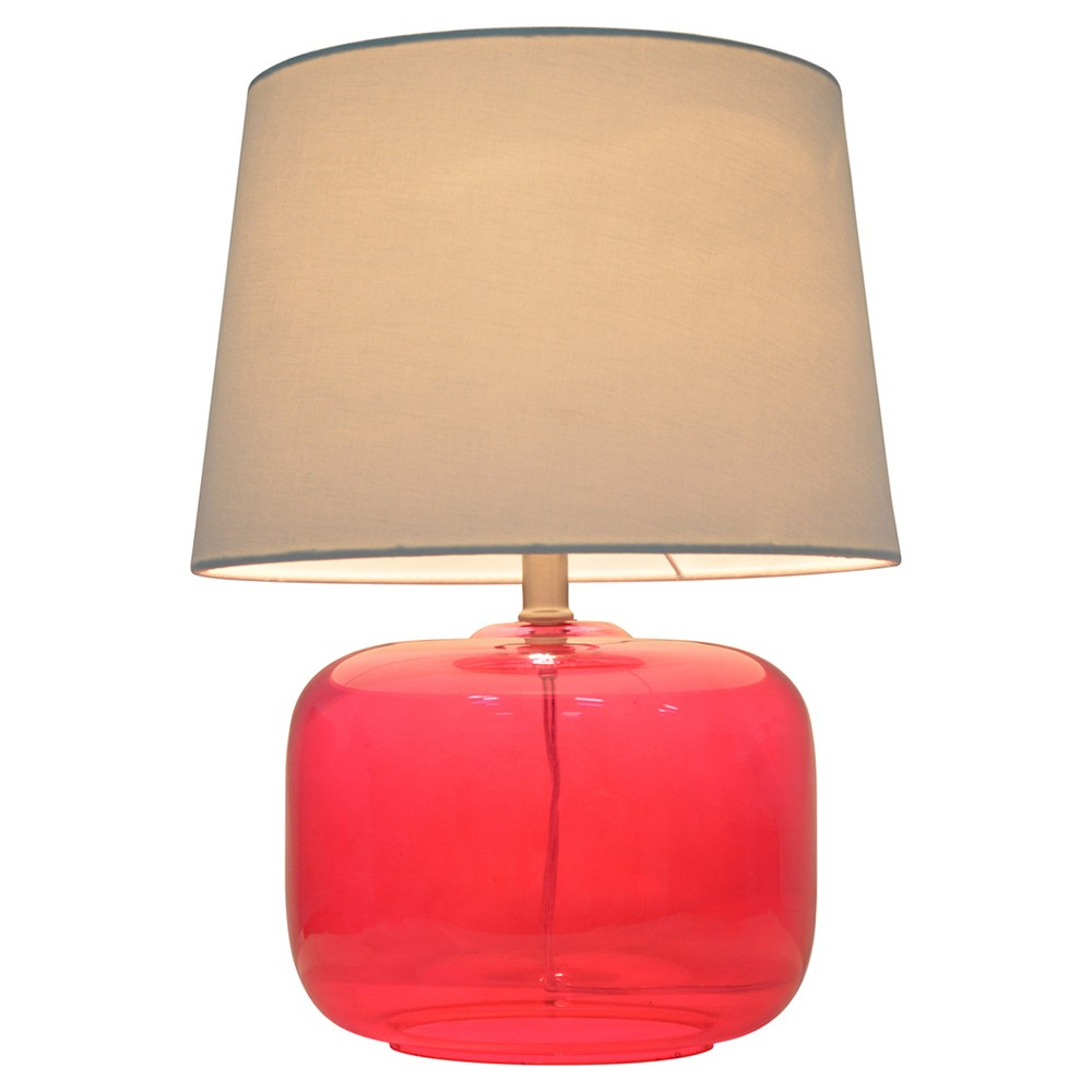 Glass Table Lamp Pink (Includes Cfl bulb) - Pillowfort