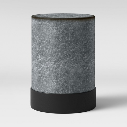 Hawley Galvanized Drum End Table - Threshold™ - image 1 of 3