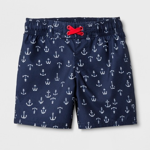 d6c028da17 Toddler Boys' Anchor Print Swim Trunks - Cat & Jack™ Navy : Target
